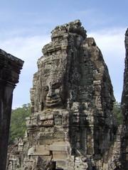 Gaint Heads Bayon Temple Angkor Wat Siem Reap Cambodia