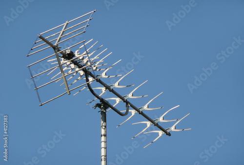 Leinwanddruck Bild TV aerial