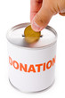canadian dollar and Donation Box