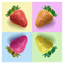 fragole stile pop art