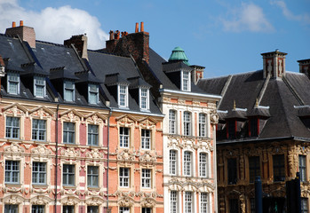 Historical Buildings in the city of Lille (france)