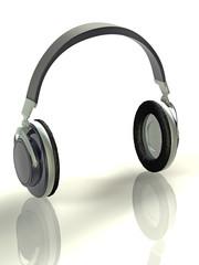 3d concept illustration headphones
