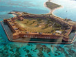 canvas print picture - Aerial View of Fort Jefferson, Florida