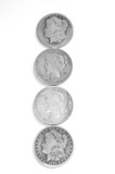 Old Uncirculated Silver Dollars.