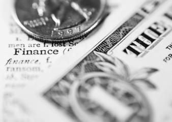 finance toned to black & white