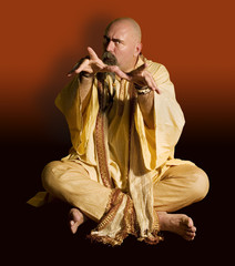 Funny Guru Casting a Spell.
