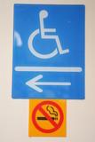 handicap toilet signage poster