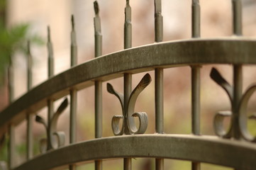 photo of a fence spikes