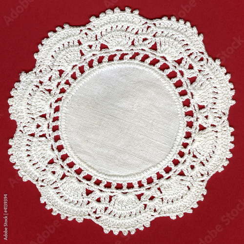 Vintage Antique Cotton Crochet Mesh Border