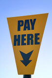 Pay here poster