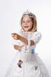 Fillette déguisée en princesse