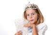 Portrait enfant déguisé en princesse