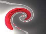 Welle in Grau und Rot