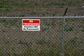 No trespassing - private property