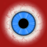 CLoseup illustration of human eye poster