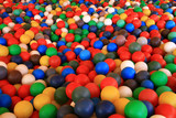 ball pool in amusement park poster