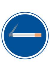 sinal de zona para fumadores, vector