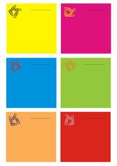 Colecção das notas em cores diferentes, no branco.