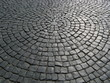 Old Brick Road Surface Shaped in a Circle