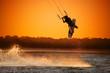 canvas print picture - Kite boarder