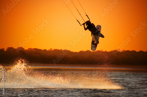 Poster Water Motorsp. Kite boarder