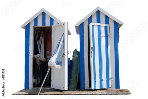 Cabines de Plage Bleues - 4153992