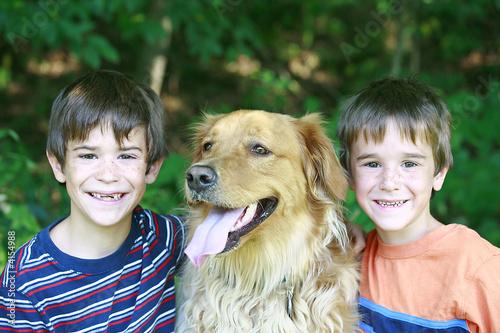 Boys with the Dog