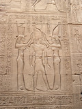 Bas-relief with goddesses and pharaoh poster
