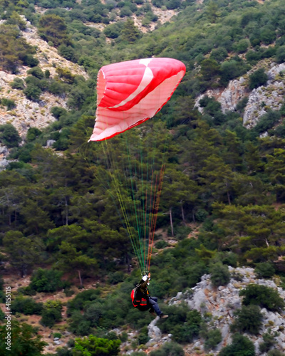 Red Paraglider