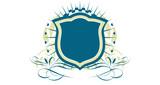 An heraldic shield or badge   . Vector illustration. poster