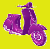Fototapety Silhouette of a classic Vespa.