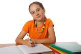Efant fait ses devoirs de classe poster