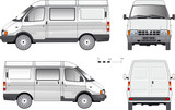 Fototapety Vector Delivery Small Truck