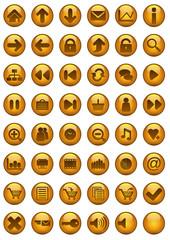 Icônes bulle d'or