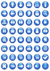 Icônes bulle bleue
