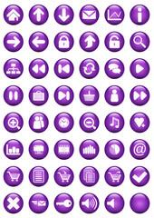 Icônes bulle violette