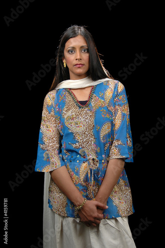 Indian lady in traditional attire