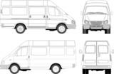 delivery / passenger van for branding poster