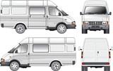 delivery / cargo / passenger van poster