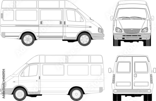 delivery / passenger van for branding