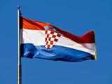 Croatian flag poster