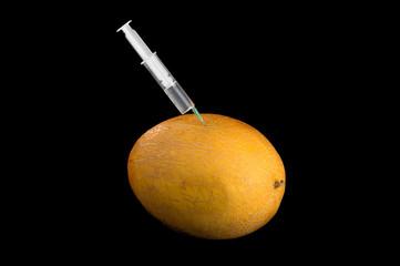 Syringe and melon