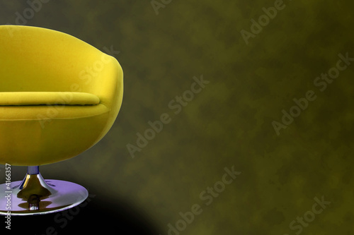Yellow Retro Chair