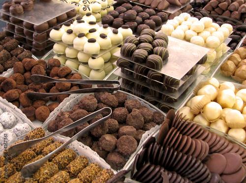 Fotobehang Snoepjes Chocolats belges / Belgien chocolate