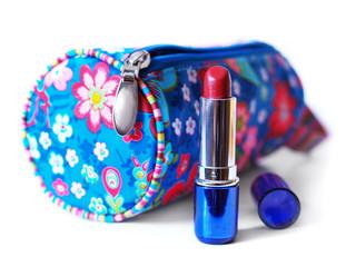 beautician and lipstick