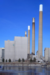 4 chimneys power plant