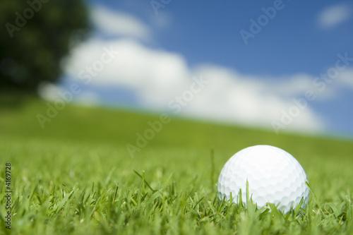balle de golf sur un fairway