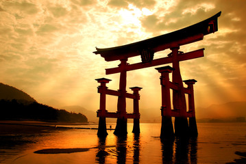 The great gateway at Miyajima