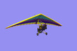 pilot of hang-glider in the air