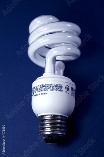Light Bulb on Blue